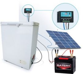 150W Solar Panel with battery and control panel